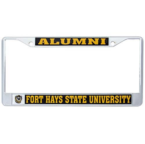 Fort Hays State University FHSU Tigers Metal License Plate Frame for Front or Back of Car Officially Licensed (Alumni) C