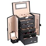 Best Jewelry Boxes - Homde 2 in 1 Huge Jewelry Box/Organizer/Case Faux Review