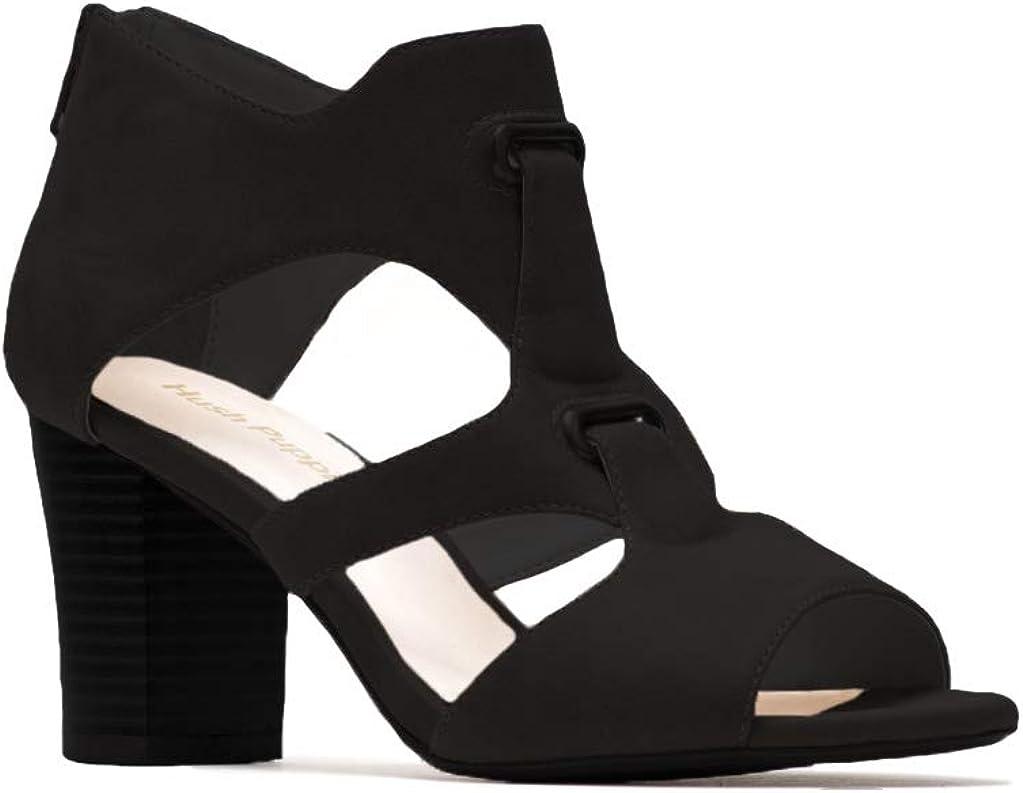 Hush Puppies Womens Russo Slip On Heeled Sandal (Black, 8M)