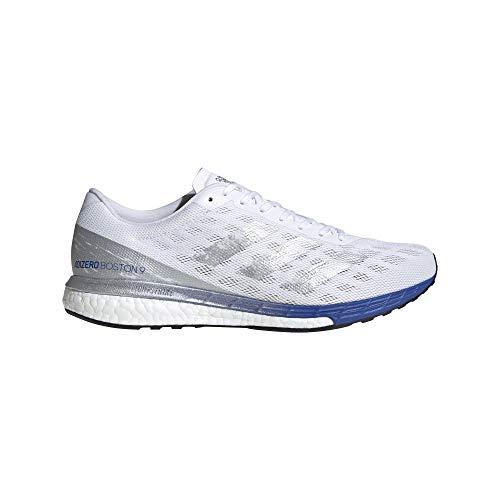 adidas Men's Adizero Boston 9 m Sneaker, FTW Bla/Plamet/Azure A, 6 UK