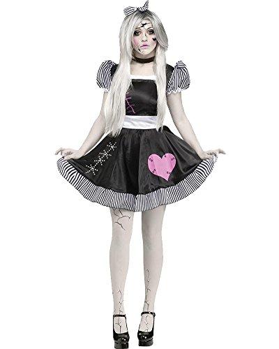 Damen French Maid Kleid Zimmermädchen Kostüm Hausmädchen Fancy Kleider Dienstmädchen Dienerin Minikleid Outfit Für Halloween Party Fasching Karneval Cosplay Schwarz S