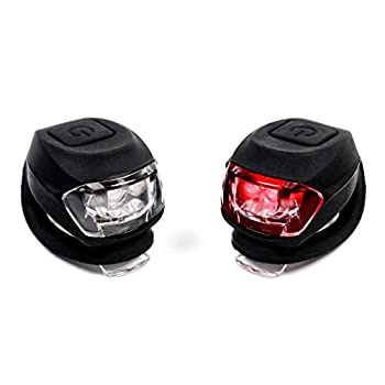 MBP SEEN & BESEEN Silicone Combo Front and Rear LED Super Bright Light Set - Headlight and Tailight Safety Lights Easy to Operate Battery Operated  Included