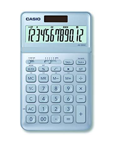 Casio JW-200SC-BU eleganter Tischrechner, 12-stellig, in sieben Farbvarianten