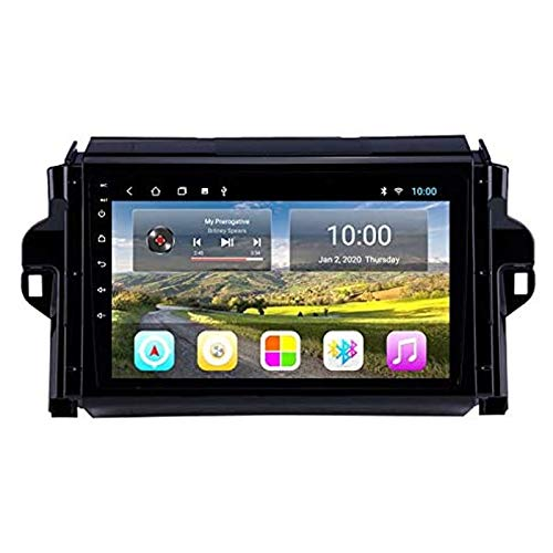 Android 9.0 Coche estéreo para TOYOTA FORTUNER HILUX 2015-2018 9 pulgadas HD Pantalla táctil GPS Navigation Media Player Receptor con enlace de espejo FM AM Turing Wheel Control,8 core 4g+wifi: 4+64gb