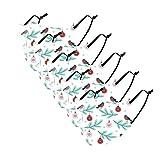 5PC Masques_Enfants Impression Bande dessinée Noël Elk Lavable réutilisable Tissu Coton Face Scarfs Anti-Pollution Respirant Bandeaux pour Garçon Fille Extérieur Mouvement Cyclisme