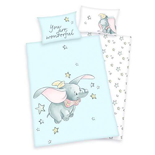 Juego de ropa de cama para bebés y niños (3 piezas, 100 x 135 cm + 40 x 60 cm + 1 sábana bajera de 70 x 140 cm, 100% algodón)