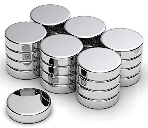 NeoMagNova 25 Stück Neodym Magnet 12x3mm, extrem starke Magnete für Magnettafel, Whiteboard, Kühlschrank, Glasmagnettafel, Basteln, Neodym Magnete klein und extra stark, Magnetstärke N42