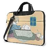 Natsume 's Book of Friends - Bolso para ordenador portátil, bolso bandolera para ordenador portátil, bolsa para maletines de poliéster con profundidad ajustable en la parte inferior de 14 pulgadas