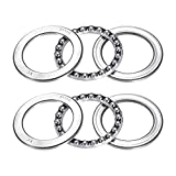 51110 Single Direction Thrust Ball Bearings 50mm x 70mm x 14mm Bearing Steel(2 Pcs)
