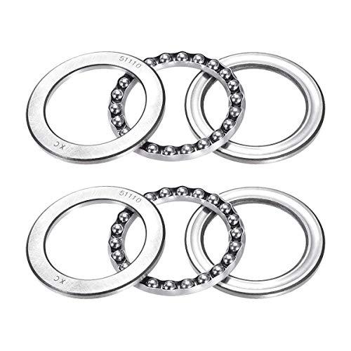 51110 Single Direction Thrust Ball Bearings 50mm x 70mm x 14mm Bearing Steel(2 Pcs)