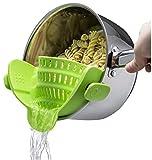 Kitchen Gizmo Snap N Strain Strainer, Clip On Silicone...