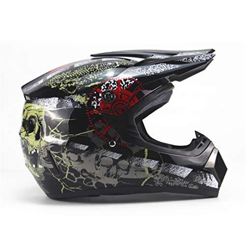 Qianliuk Carretera Moto Casco Adulto Motocross Casco ATV
