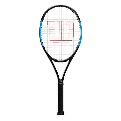 Wilson Ultra Power 100 , WR018010U3 Racchetta da Tennis, Tennisti di Livello Intermedio, Fibra di Carbonio e Basalto, Nero/Blu, Manico 3