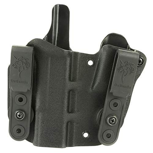 DeSantis 160KAB6Z0 Gunhide, Pegasus, Pipe Hitter, Inside The Pant Appendix Holster, Integrated Magazine Pouch, Right Hand, Black, Kydex, fits Glock 19/23, N/A