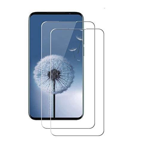MSOSA Compatible con Protector de Pantalla Meizu 16s Pro, [2-Pack] [Anti-Burbujas] [9H Dureza] [Fácil Instalación] HD Cristal Templado para Meizu 16s Pro