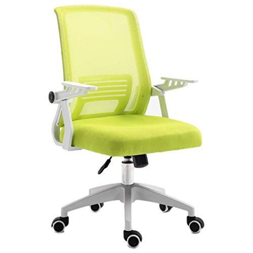 HAOSHUAI Mid-Back Mesh Multifunzione Executive Girevole Ergonomico Sedia da Ufficio Sedia da Ufficio Casa Sedia da Ufficio con Bracci Regolabili (Colore: Verde) (Color : Green)
