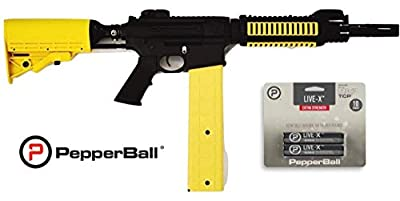 PepperBall VKS Launcher Bonus Live-X Projectiles, Non-Lethal Training and Self Defense