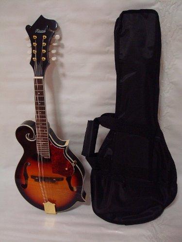 Ktone Hand Carved Solid Spruce Top F Style Mandolin, Free Gig Bag, Sunburst