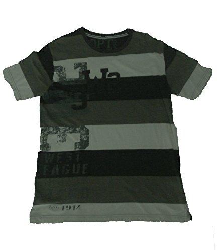 Oldport - Camisetas de Manga Corta - para Hombre Verde Gris L
