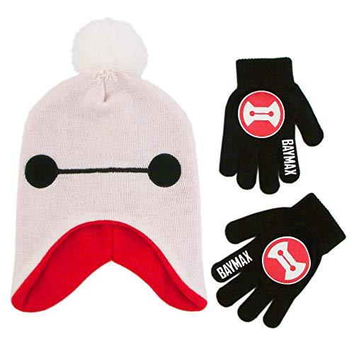 Disney Little Big Hero 6 - Juego de gorro y guantes para niños (4 a 7 años), color blanco y rojo