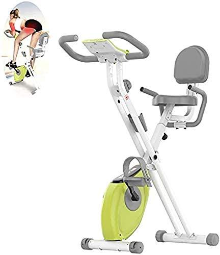 WLDOCA Indoor Folding Heimtrainer Fahrrad Spin Bike Cardio Workout Radfahren Fitness Fahrrad Pedal Einstellbarer Lenker Sitzhöhe Radfahren Einstellbare Sitz Widerstand Digital-Monitor-Ratensensoren