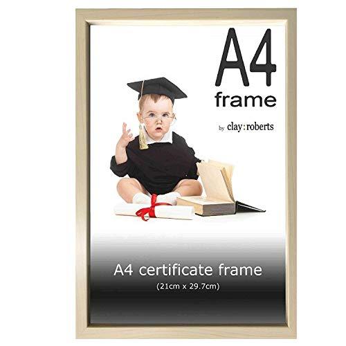 Clay Roberts Bilderrahmen 21 x 30 cm DIN A4, Kiefer, Fotorahmen für Zertifikate, Dokumente und Fotos