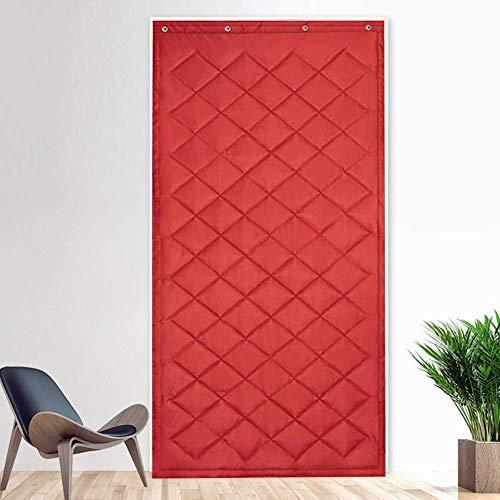 ZXL deurgordijn voor rode deur bescherming warmte-isolatie warmte-isolatie warm deurblad voor de voordeur, waterbestendig, winddicht, windgeluid (afmetingen: 100 cm x 210 cm)