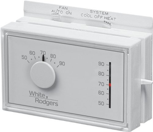 White-Rodgers Emerson 1F56N-444 Mechanical Heating and Cooling Thermostat (Renewed)