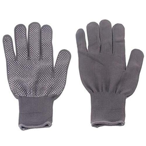GOMYIE Professioneller hitzebeständiger Handschuh für das Haarstyling Wärmeblockierung für Lockenstab, Glätteisen und Lockenstab Geeignet für die linke und rechte Hand (grau)