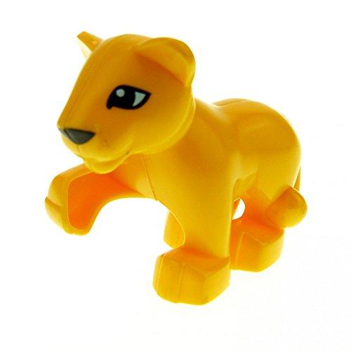 1 x Lego Duplo Tier Löwe Baby orange gelb klein für Safari Zirkus Zoo groß Katze 4962 6157 5634 54300cx1
