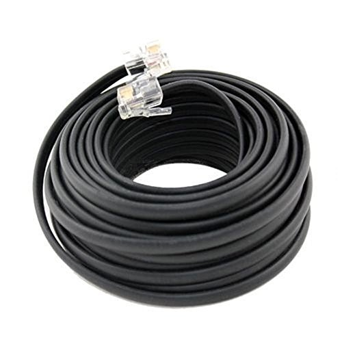 Extension Cords 50 FT Feet RJ11 4C Modular Telephone Extension Phone Cord Cable Line Wire Black