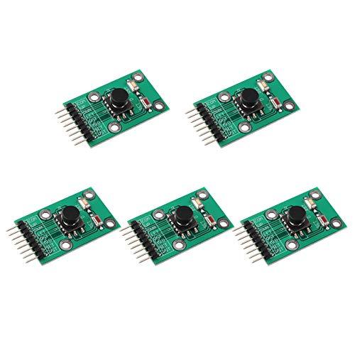 HALJIA 5 Stück Fünf Richtungen Navigation Button Modul DIY Elektronische PCB Board Kompatibel mit MCU AVR Game 5D Rocker Joystick Unabhängige Tastatur Switch Button Single Chip Arduino Modul