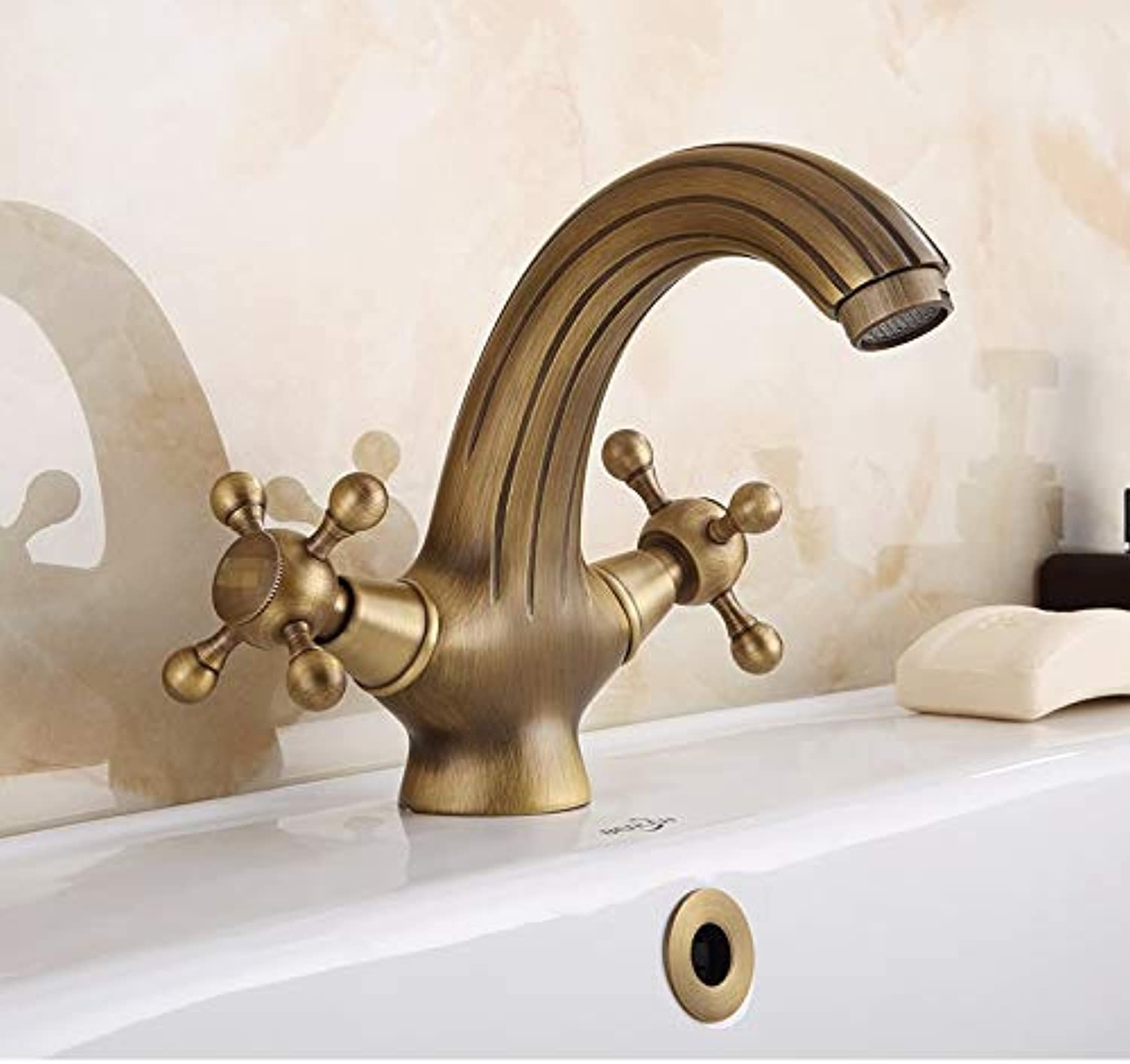 Kitchen Tap European Style Antique Tap Antique Toilet Double Single Hole Hot and Cold Basin Upper Basin Faucet Kitchen Taps Kitchen Sink Mixer Taps Basin Tap
