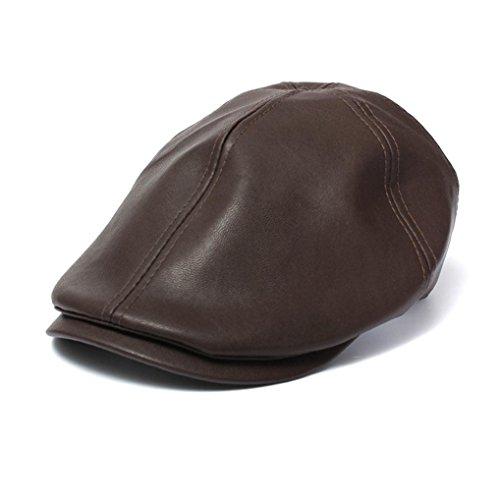 Malloom Gorra Béisbol de cuero, Gorra de Béisbol, sombrero cuero, Gorra de Cuero, Cap, Cuero...