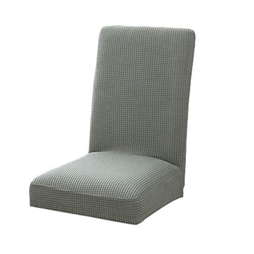Busirde funda elástica para silla de forro polar, lavable, para casa, hotel, comedor