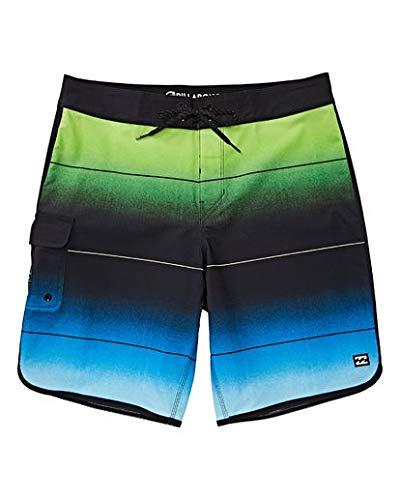 Billabong Boys' 73 Stripe Pro Boardshorts Neo Green 29