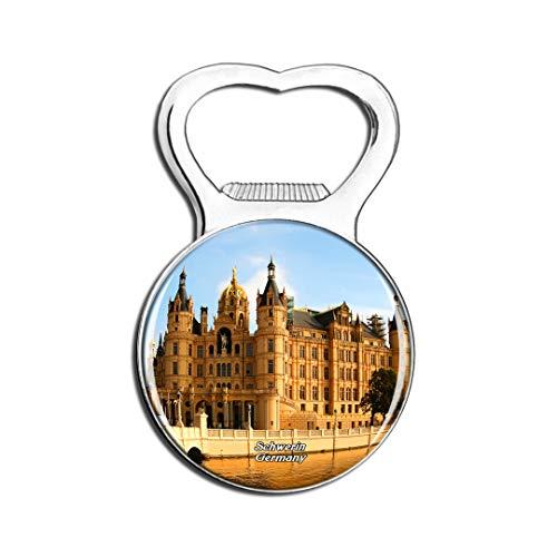 Weekino Schwerin Castle Deutschland Kühlschrankmagnet Bier Flaschenöffner Stadt Reise Souvenir Sammlung Starker Kühlschrankaufkleber