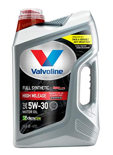 Valvoline  Full Synthetic High Mileage with MaxLife  Technology SAE 5W-30 Motor Oil 5 QT