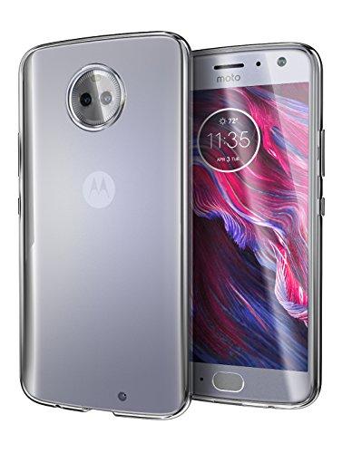 Cimo Moto X4 Case, [Grip] Premium Slim Protective Cover for Motorola Moto X4 - Clear