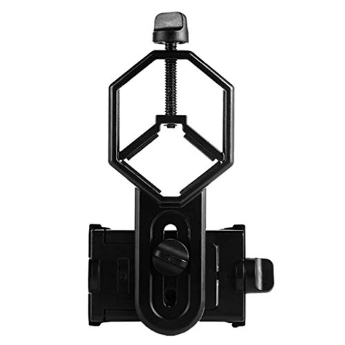 Universal 5,2-10 cm Smartphone Handy Telefon Adapter für Teleskop/Spektiv/Monokular/Fernglas/Mikroskop, 360 Grad einstellbar