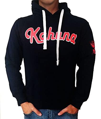 Sudadera surfera con Capucha para Hombre y Mujer Kahuna Store Screenprinting Hoodie Premium Monkey Style, Azul Marino, Blue Navy, Streetwear, Unisex, Skate Wear and Snowboard (m)