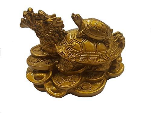 DMtse Dragon Chinois Feng Shui Statue de Tortues Décoration