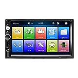 Podofo Bluetooth Autoradio 2 DIN 7 pollici Touch Screen Auto Radio Dulica Schermo per Android/ISO USB SD/TF +Controllo del volante +Telecamera Posteriore+Telecomando
