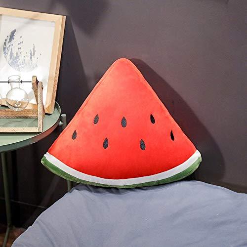 Xiaoahua Software simulación sandía Relleno Fruta Almohada hogar sofá decoración Juguete cojín Creativo Fruta decoración Regalo 50 cm x 40 cm