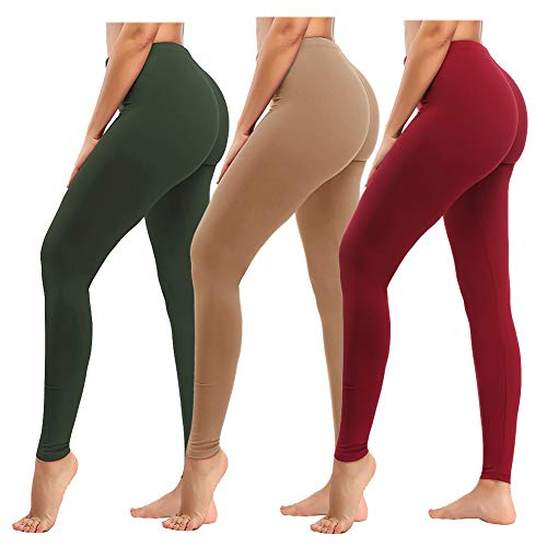ZOOSIXX High Waisted Leggings for Women, Soft Tummy Control Opaque Pants for Workout Yoga Running