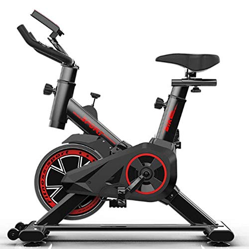 YAMMY Exercise Bike-Gym Spec Indoor Bik -22Kg Belt Driven Flywheel-Heart Rate Chest Strap-Adjustable Seat & Handles-Gym Equipment at Home - I(Exercise Bikes)