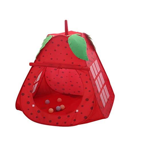 HTL Los Hijos de la Tienda/Ball Pool, Frutas Carpa Shaped Del Niño Carpa Carpa Espacio Seguro/Adecuado para Todos Los Niños Juegos Game House,Rojo,100 * 100Cm