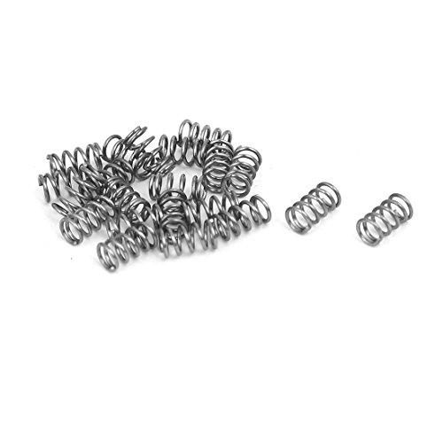 sourcingmap Druckfedern 20 Stück 0.4mmx3mmx5mm 304 Edelstahl Silber