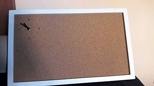 Ikea Tablón de anuncios de corcho con reloj, ideal para colgar en casa o en la oficina, tablero multifunción