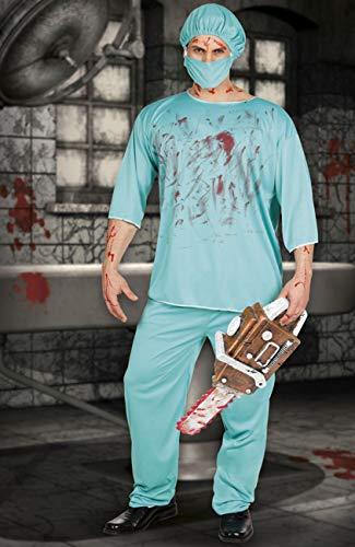 Boland- Costume Adulto Chirurgo Horror Bloody Surgeon, Verde, Taglia M/L, 79077